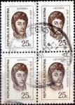 Sellos del Mundo : America : Argentina : Intercambio 0,80 usd 25 cent. 1971