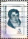Stamps Argentina -  Intercambio 0,20 usd 3 pesos 1976