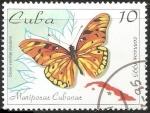 Stamps : America : Cuba :  dione vanillae insularis