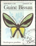 Sellos del Mundo : Africa : Guinea_Bissau : Paradisea Ornithoptera