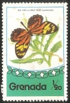Sellos del Mundo : America : Granada : El Paraíso Birdwing (Ornithoptera paradisea) es una especie de birdwing mariposa que se encuentra en