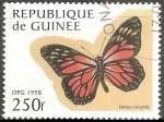 Stamps : Africa : Guinea :  Danaus cleophile