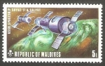 Stamps : Asia : Maldives :  Soyuz 11 y Salvut