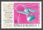 Stamps : Asia : Maldives :  Centº de la Organización Metereológica Mundial