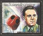 Stamps : Africa : Equatorial_Guinea :  Vladimir Komarov, por la conquista espacial