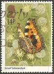Stamps United Kingdom -  Small tortoiseshell