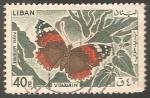 Sellos de Asia - Líbano -  Mariposa