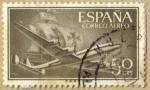 Stamps Spain -  Superconstellation y NAO 'SANTA MARIA'