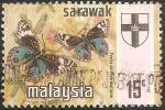 Sellos de Asia - Malasia -  precis orithya wallacei