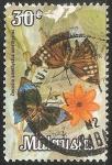 Sellos de Asia - Malasia -  zeuxidia amethystus