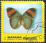 Sellos de Asia - Bahrein -  Mariposa