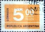 Stamps Argentina -  Intercambio 0,20 usd 5 pesos 1976