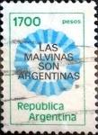 Stamps : America : Argentina :  Intercambio nf4b 0,20 usd 1700 pesos 1981