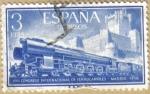 Stamps : Europe : Spain :  Ferrocarril y Castillo de la Mota
