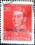 Sellos de America - Argentina -  Intercambio 0,20 usd 20 cent. 1955