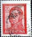 Stamps Argentina -  Intercambio 0,20 usd 20 pesos 1967