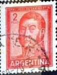 Stamps Argentina -  Intercambio 0,20 usd 2 pesos 1961