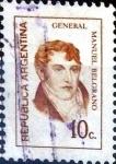 Stamps Argentina -  Intercambio 0,20 usd 10 cent. 1973