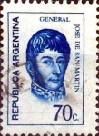Stamps Argentina -  Intercambio 0,20 usd 70 cent. 1973