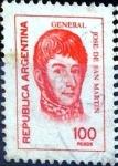 Stamps Argentina -  Intercambio 0,25 usd 100 pesos. 1976