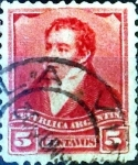 Sellos de America - Argentina -  Intercambio 0,30 usd 5 cent. 1892