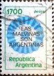 Sellos de America - Argentina -  Intercambio 0,20 usd 1700 pesos. 1982