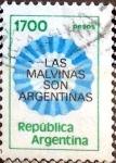 Stamps Argentina -  Intercambio 0,20 usd 1700 pesos. 1982