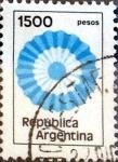 Sellos de America - Argentina -  Intercambio 0,20 usd 1500 pesos. 1981