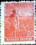 Sellos de America - Argentina -  Intercambio 0,25 usd 5 cent. 1912