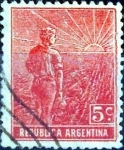 Sellos del Mundo : America : Argentina : Intercambio 0,25 usd 5 cent. 1912