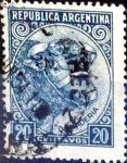 Stamps : America : Argentina :  Intercambio 0,20 usd 20 cent. 1951