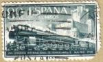 Sellos del Mundo : Europa : España : Ferrocarril y Castillo de la Mota