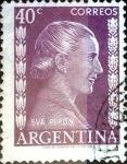 Sellos del Mundo : America : Argentina : Intercambio daxc 0,20 usd 40 cent. 1952