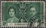 Sellos del Mundo : Europa : Gibraltar : Coronación de George VI