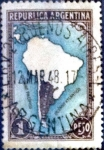 Sellos del Mundo : America : Argentina : Intercambio 0,30 usd  1 peso. 1937