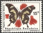 Sellos del Mundo : Africa : Rwanda : papilio hesperus