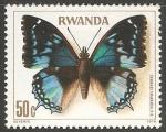 Stamps : Africa : Rwanda :  charaxes smaragdalis