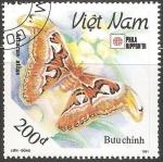 Sellos de Asia - Vietnam -  Attacus atlas