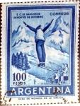 Stamps Argentina -  Intercambio 0,20 usd 100 pesos 1961