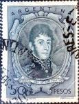 Stamps Argentina -  Intercambio 1,40 usd 50 pesos 1955