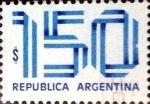 Stamps Argentina -  Intercambio 0,20 usd 150 pesos 1978