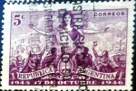 Stamps : America : Argentina :  Intercambio daxc 0,25 usd 5 cent. 1946