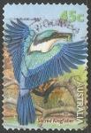 Sellos de Oceania - Australia -  sacred kingfisher-Martín pescador Sagrado