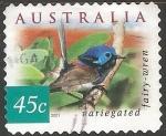 Sellos de Oceania - Australia -  variegated fairy wren