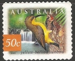 Sellos de Oceania - Australia -  yellow bellied sunbird