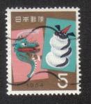 Sellos de Asia - Japón -  Saludos de Año Nuevo 1964 - Año del Dragón