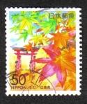 Stamps Japan -  Flores Chugoku