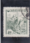 Stamps South Korea -  recolector