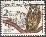 Sellos de Europa - Checoslovaquia -  Asio otus-búho chico
