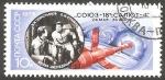 Sellos del Mundo : Europa : Rusia :  Klimuk y Sevastianov, cosmonautas